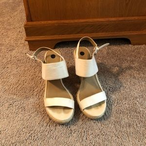 White wedge sandals